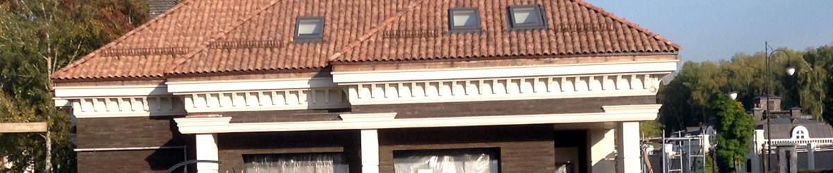 Отделка фасада частного дома из блоков